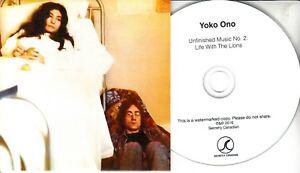 JOHN-LENNON-YOKO-ONO-Unfinished-Music-No-2-Life-With-2016-UK-promo-test-CD