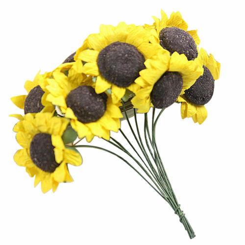 10 Heads Beauty Fake Sunflower Artificial Silk Flower Bouquet Home Floral Decor