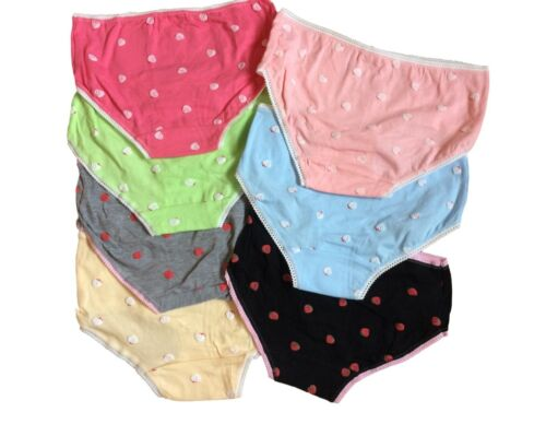 Teen Girls Underwear 7 Pack Strawberry Briefs//Pants//Knickers One Size to Fit 11