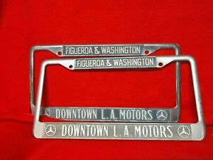 Downtown La Motors >> Details About Mds Benz Downtown L A Motors Washington Figueroa Set 2 License Plate Frame