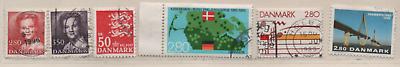 Dänemark 1985 Siehe Beschreibung 6 Marken Gestempelt, Denmark Used Blut NäHren Und Geist Einstellen