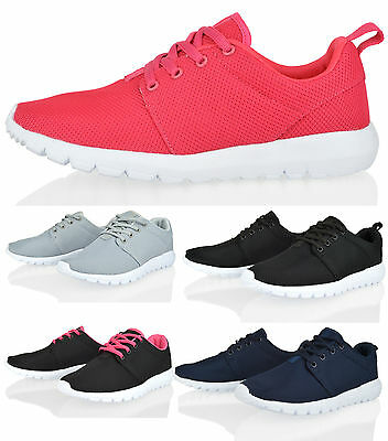 WOMENS LADIES SPORTS RUNNING GO WALK MESH GYM LIGHT WEIGHT TRAINERS  SHOES SIZE