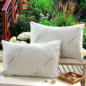 2-Pack-Hotel-Bamboo-Bamboo-Memory-Foam-Pillow-Hypoallergenic-Cozy-Queen-Size