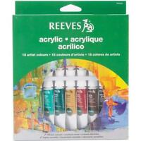 Reeves 18-pack Acrylic Color Tube Set, 10ml, New, Free Shipping