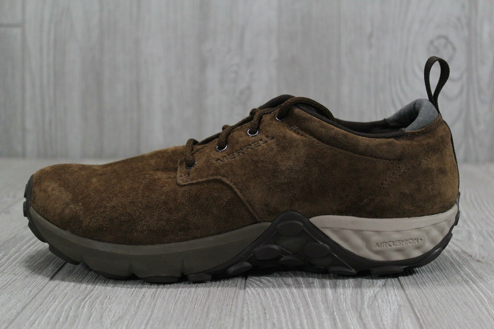 37 New Merrell Men's Jungle Lace AC+ Suede Fashion shoes Dark Earth Brown 9 12
