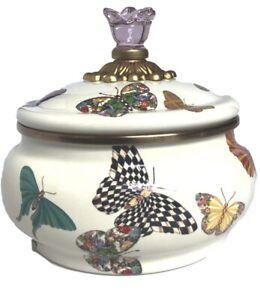 MacKenzie-Childs Butterfly Garden Squashed Pot - HTF