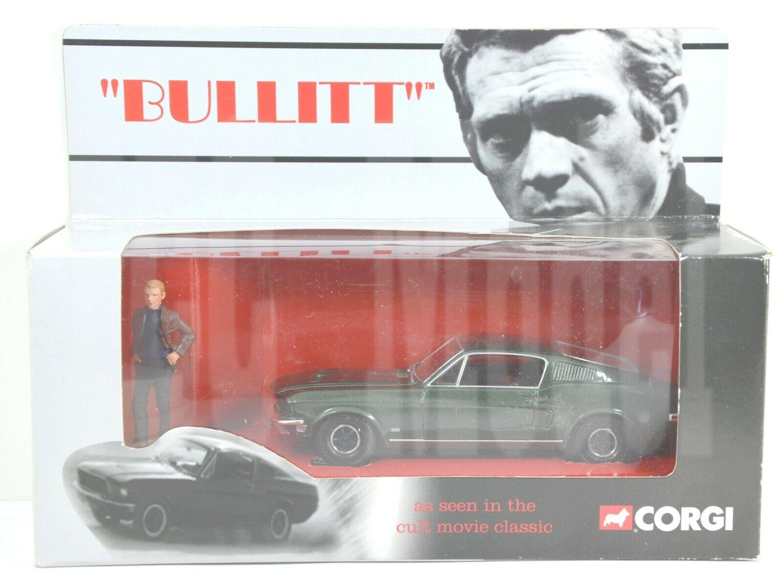M1308 CORGI -  BULLITT  Steve McQueen ( Ford Mustang 1968 ) with Figure