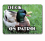Duck-sign-funny-on-patrol-welcome-hanging-or-fixed-aluminium-metal-20-x-15 miniatura 1