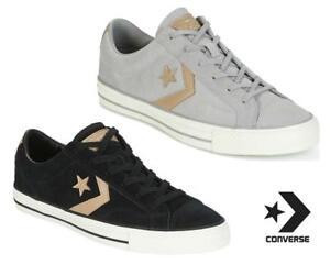 Da Uomo Converse Star Player Ox in pelle scamosciata nero scarpe di marca di Calzature Scarpe Da Ginnastica Casual