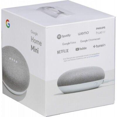 Google Home Mini - Smart Small Speaker - Chalk Grey -  BRAND NEW-SHIPS WORLDWIDE