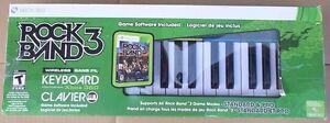 XBOX 360 Rock Band 3 Wireless Keyboard Bundle - BRAND NEW SEALED
