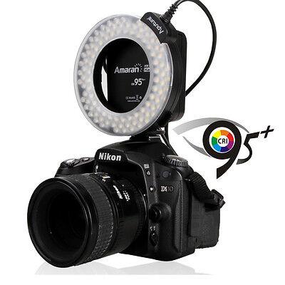 Aputure Amaran Halo AHL-HN100 LED Macro Ring Flash Light 95+ CRI for Nikon DSLR