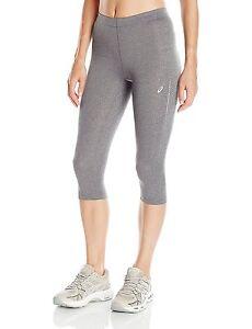 asics women capri running gray knee tight medium athletic