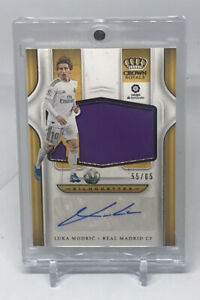 2019/20 Chronicles Soccer Luka Modric Crown Royale Silhouettes Auto Patch #55/65