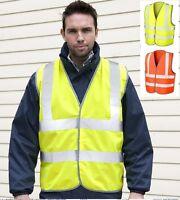 Plain Hi High Viz Visability Safety ORANGE or YELLOW Motorway Vest Waistcoat