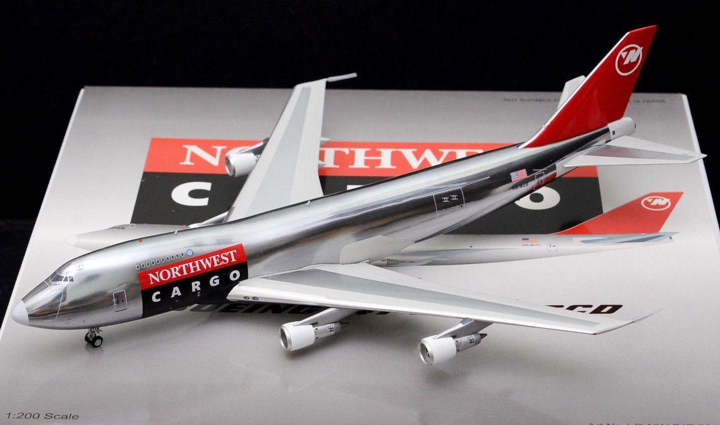 WBNW747001P 1 200 Northwest Airlines Cargo 747-200 N618US W   Stand Ltd Edition