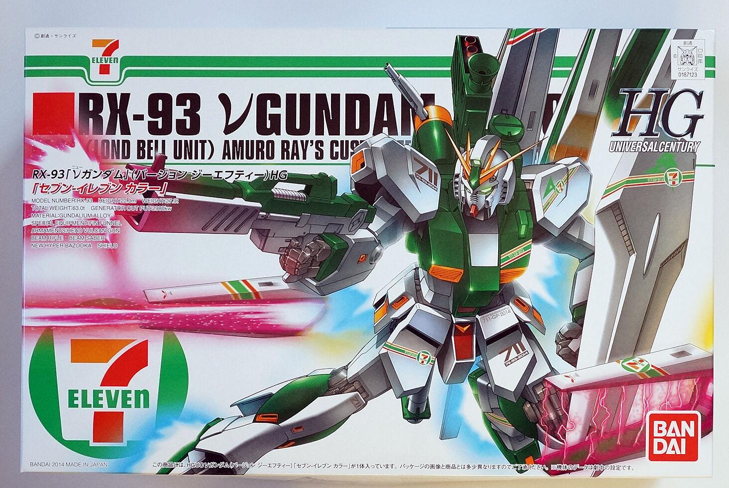 BANDAI HGUC 1 144 ν (Nu) GUNDAM ver GFT 7-Eleven color limited scale model kit