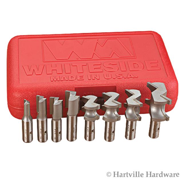"""Whiteside #1960 1//2/"""" Shank x 1/"""" Long x 1-7//8/"""" Diameter Multi-Rabbet Bit Set"""