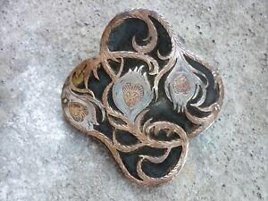 aebcbbf4af08 ancienne boucle de ceinture art nouveau laiton et argent 1900 silver ...