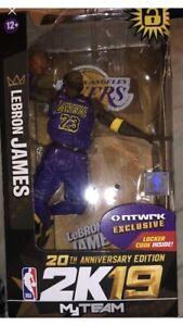 McFarlane 20th NBA 2K19 Lebron James Figure Purple Lakers NTWRK Exclusive