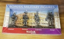 4 Roman Metal Figures Presentation Box Soldiers Rome Legionary Imperial Ancient