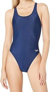 Speedo-Women-Swimwear-Navy-Blue-Size-6-32-Pro-LT-Cutout-Back-One-Piece-40-749