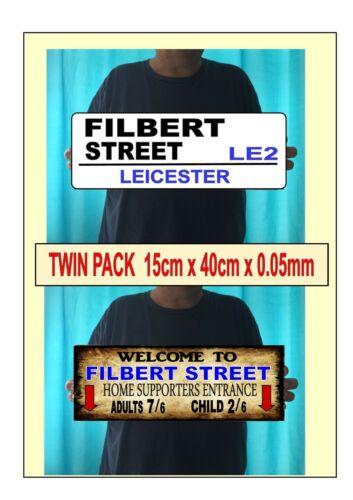 AVELINE Street Leicester Signes vintage effet Signes deux reproduction Signes