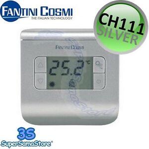 3s nuovo termostato ambiente ch111 silver fantini e cosmi for Cronotermostato fantini cosmi ch180