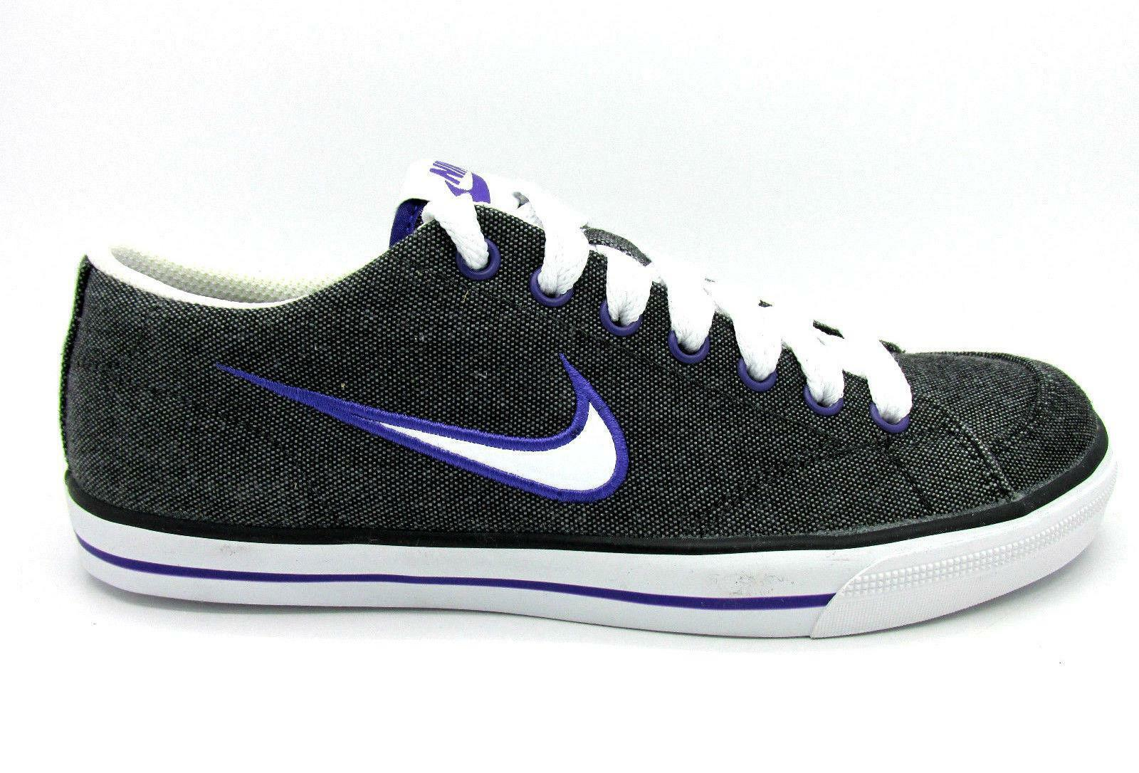 Womens NIKE CAPRI Black Canvas Trainers 314956 025 US 5 New shoes for men and women, limited time discount