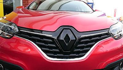 Negro Brillante Cubierta Frontal insignia emblema Muchos Colores Renault Kadjar 2015