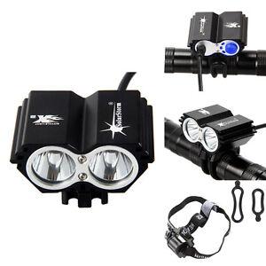 5000 lm XM-L 2x U2 LED Owl Dual-use Bicycle bike Light HeadLight Headlamp