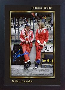 Niki-Lauda-James-Hunt-signed-autograph-Memorabilia-Formula-1-Ferrari-Framed-003
