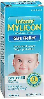 1 Oz Pack Of 5 Popular Brand Mylicon Infants' Gas Relief Dye Free Drops