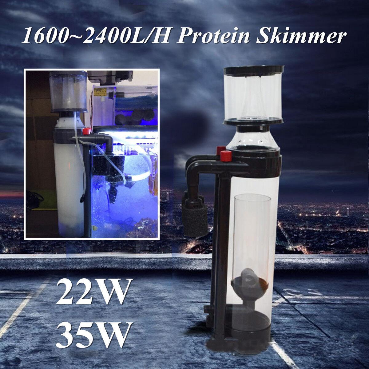 16002400L H Aquarium Fish Tank Predein Separator Skimmer Pump Filter Salt Water