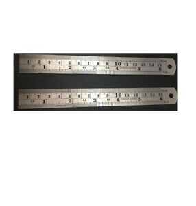 Image Is Loading 2 Pc 6 034 Stainless Steel Pocket Ruler