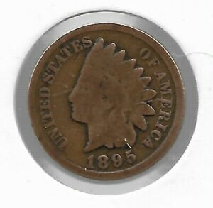 Rare-Antique-US-1895-Indian-Head-Penny-Collectible-Collection-Coin-Cent-LOT-C48
