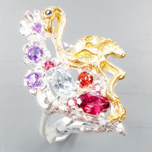 Love-Design-Jewel-Natural-Blue-Topaz-925-Sterling-Silver-Ring-Size-7-75-R103976