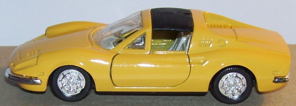 OLD NOREV JET CAR METAL MADE IN FRANCE FERRARI 246 GTS YELLOW REF 824 1 43 1972