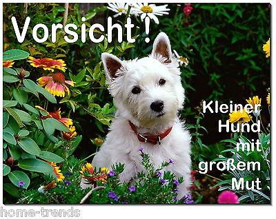 Sammlung Hier Westhigland Terrier-hund-alu-schild-0,5-3mmdick-türschild-warnschild-hundeschild Schilder & Plaketten Haustierbedarf