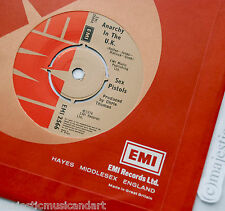 "THE SEX PISTOLS 1ST RECORD 1976 ORIGINAL ANARCHY IN THE UK 7"" VINYL 45 RARE"