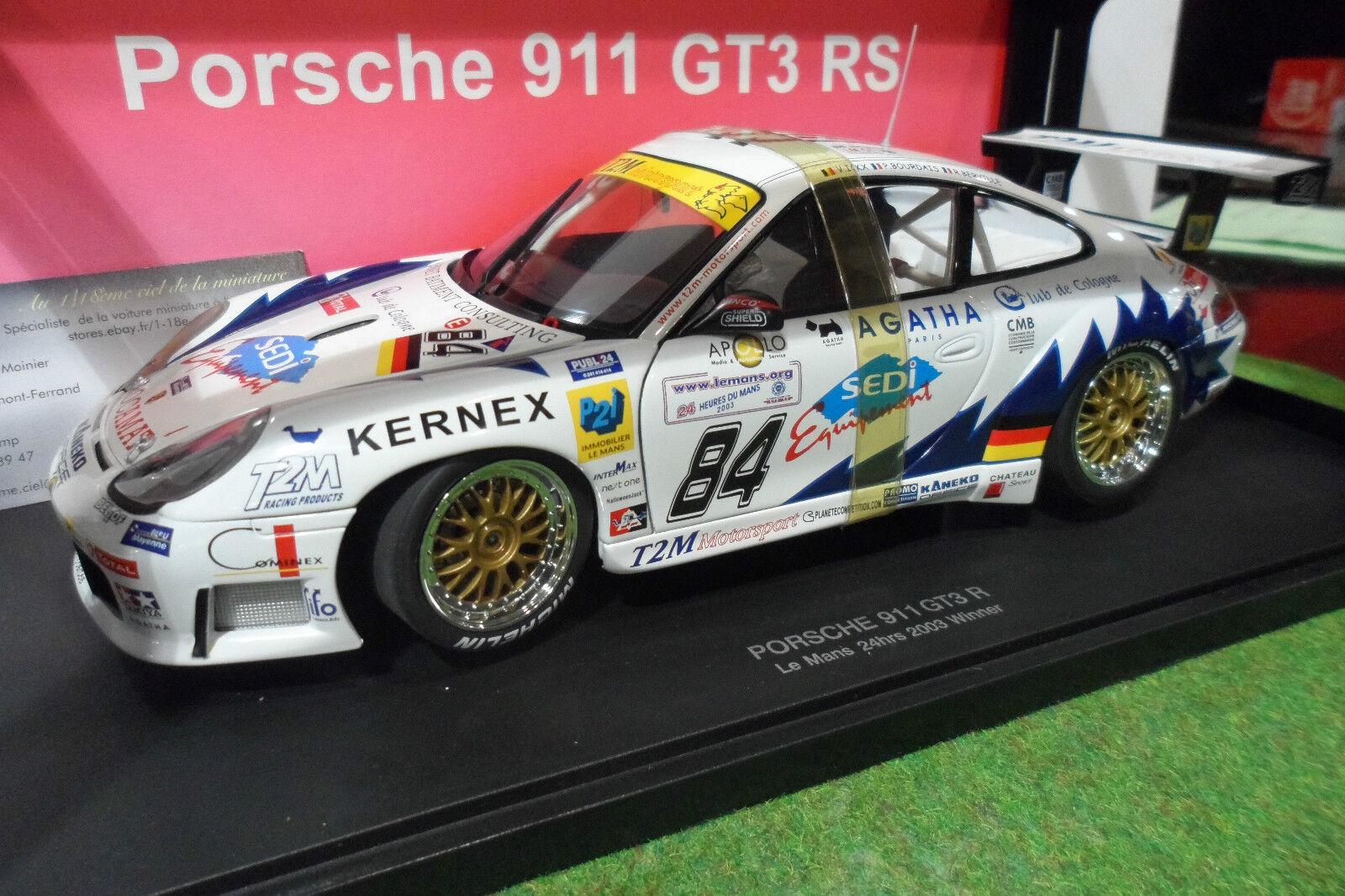 entrega rápida PORSCHE  911 996 GT3R Le Mans Mans Mans 2003 T2M Ickx 1 18 AUTOart 80379A Auto Art voiture  n ° 1 en línea