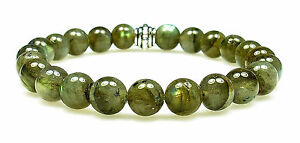 Bracelet - Labradorite 8mm Round Crystal Bead W/description- Healing Reiki Stone