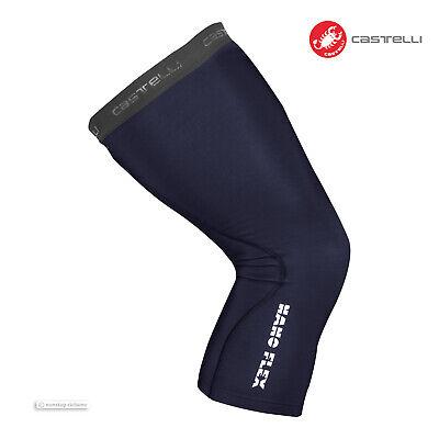 NEW Castelli NANO FLEX 3G Water Repellent Cycling Leg Warmers SAVILE BLUE