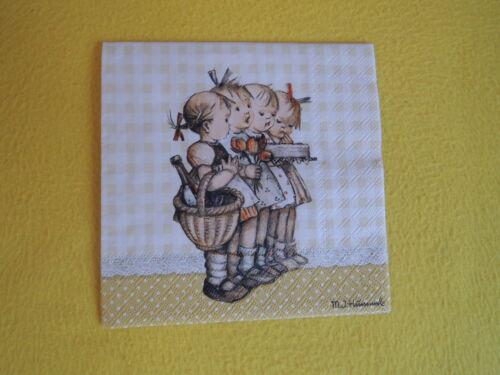 5 Servietten THE BIRTHDAY GIFT Kinder Serviettentechnik Hummel Figuren Geburtsta