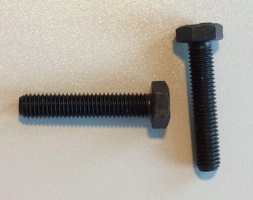 10 Stück Schraube  DIN 933 M8x40 10.9 schwarz  hochfest Sechskant