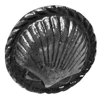 "Distress White Iron Spiral Shell Shaped Drawer Knob 1.5""l Set of 8 Nautical Pull"