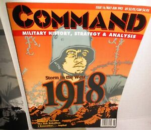 BOARD-WAR-GAME-Mag-Command-16-WW1-1918-Storm-in-the-West-op-1992-UNPunched