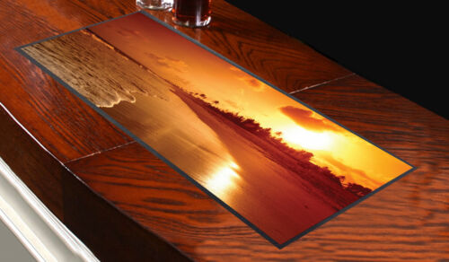 Beach Sunset Bar Runner Ideal For Any Occasion Party Pub Club Salon Media Mat
