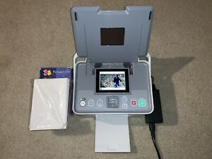 Epson-PictureMate-PM260-Digital-Photo-Printer-UNTESTED-with-cables-and-paper