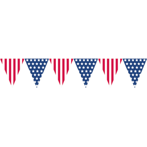 AMERICAN PENNANT BANNER FLAG BUNTING AMERICA USA STARS STRIPES PARTY DECORATION